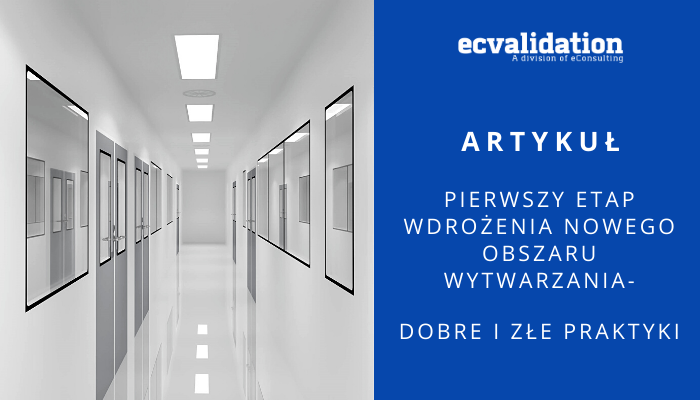 a corridor in a new pharmaceutical plant