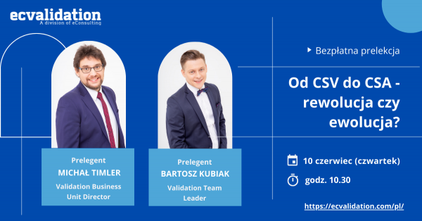 webinar information with speakers photos on a blue background